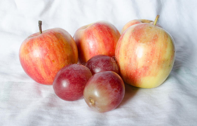 Maçãs do fruto fresco fotos de stock