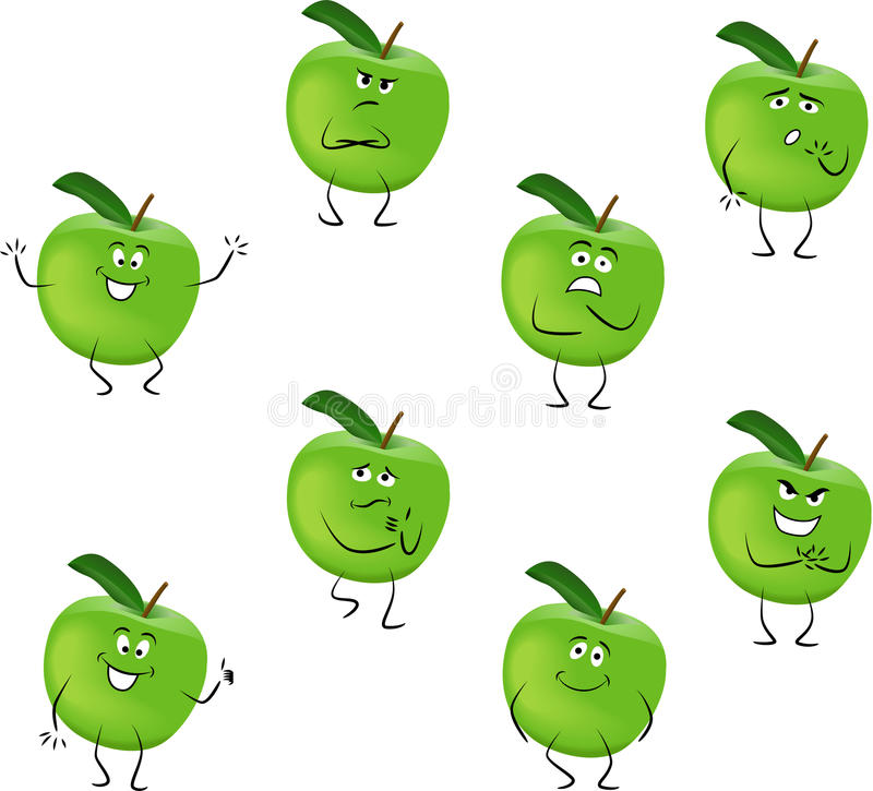 Maçãs verdes ilustração stock