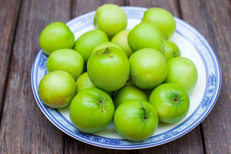 Maçãs verdes Fruto asiático doce da maçã do macaco fotos de stock