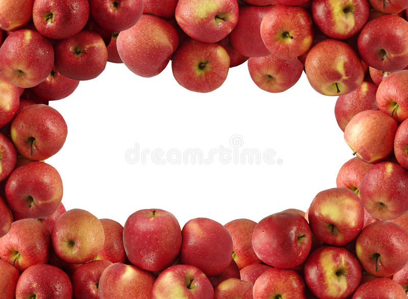 Maçãs vermelhas foto de stock royalty free
