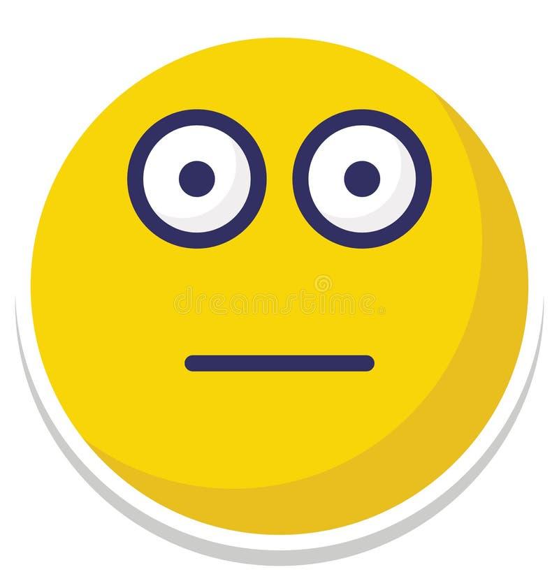 maçante, o vetor dos emoticons isolou o ícone que pode facilmente alterar ou editar ilustração royalty free