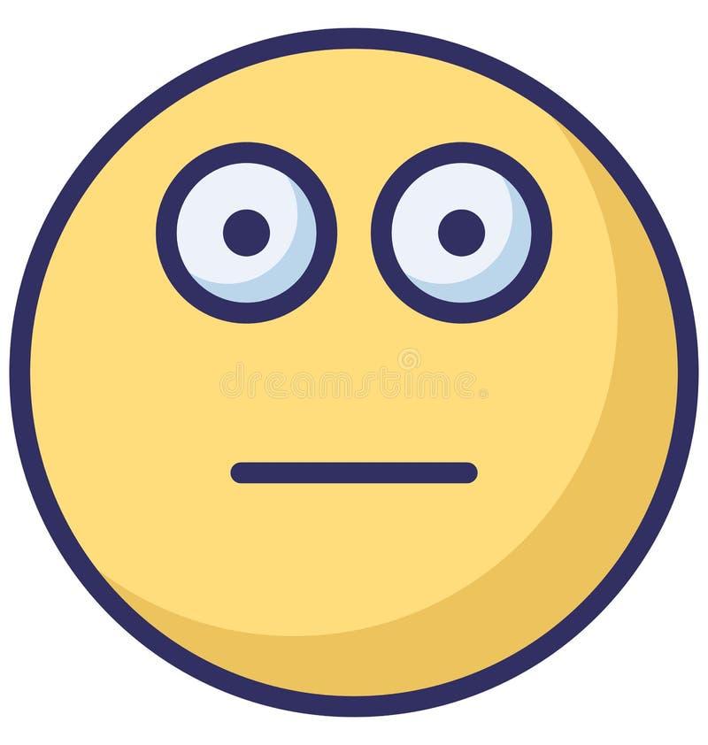 maçante, o vetor dos emoticons isolou o ícone que pode facilmente alterar ou editar ilustração stock