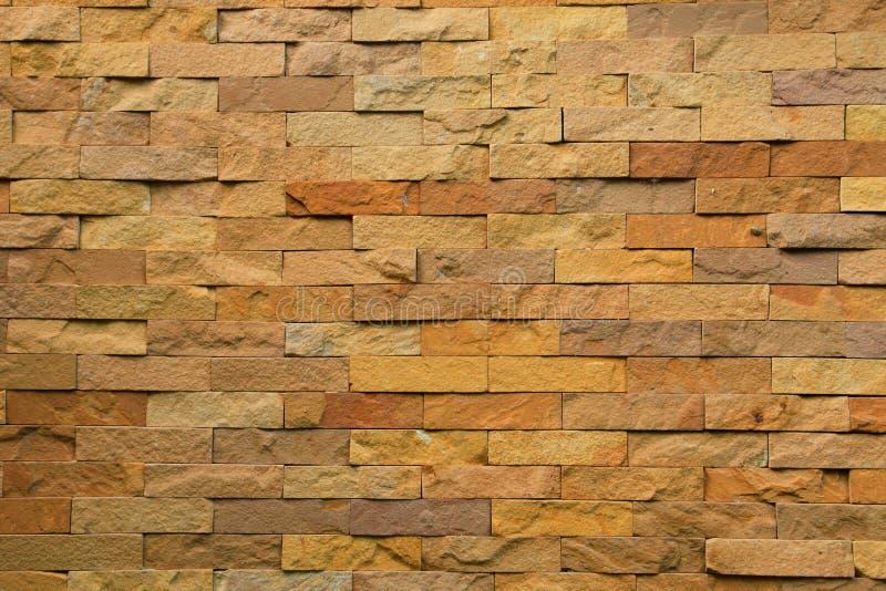 Maçonnage rugueux de pierre de sable pour le fond de texture et de conception photo libre de droits