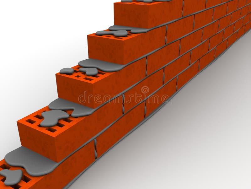 Maçonnerie faite de briques en céramique illustration stock