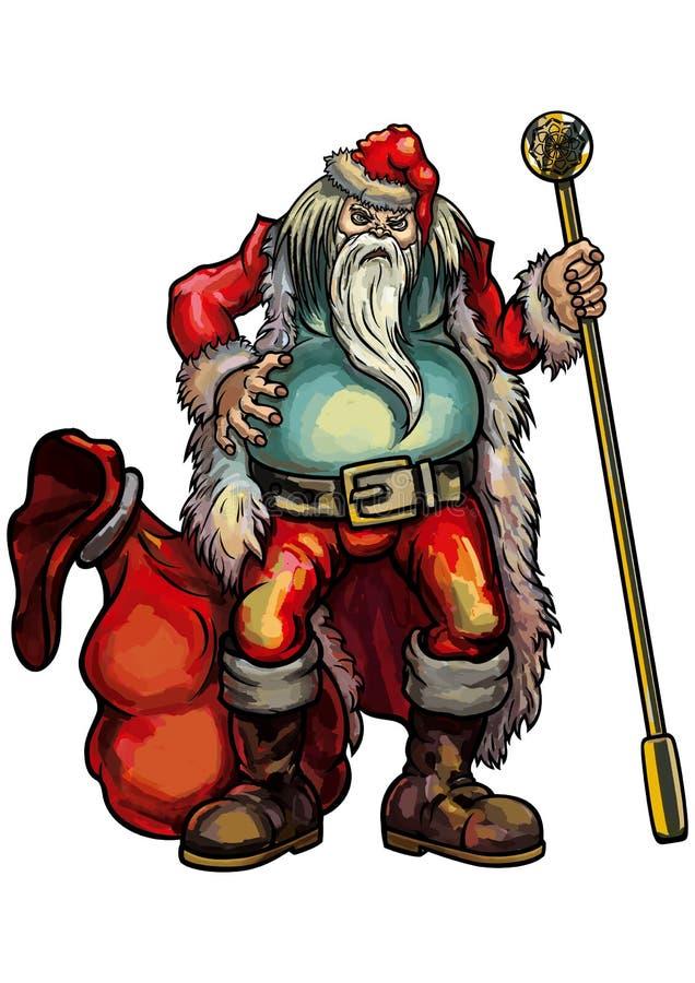 Mán Papá Noel ilustración del vector