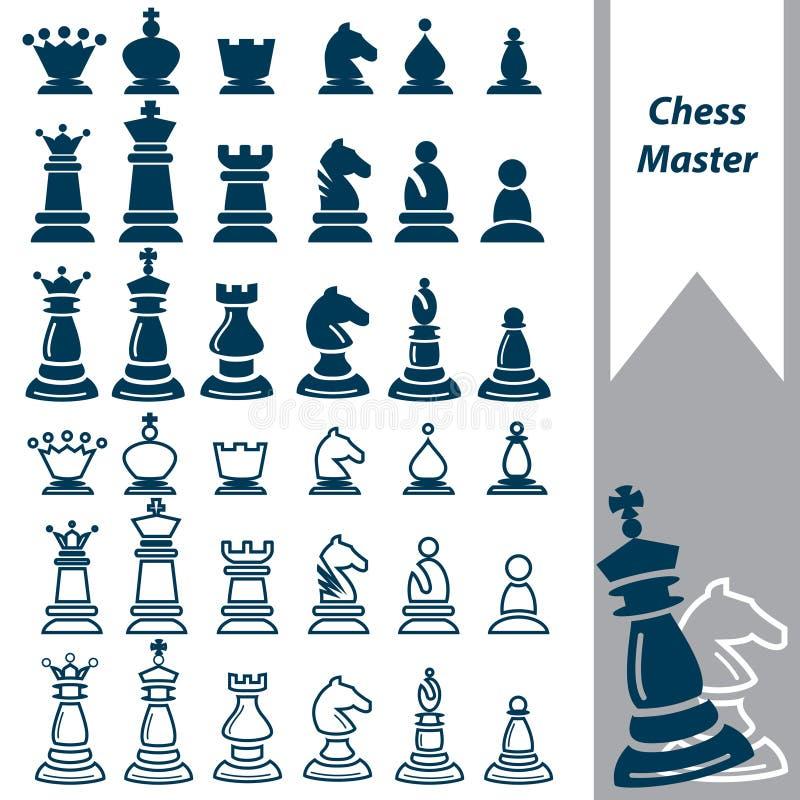 Maître d'échecs illustration de vecteur
