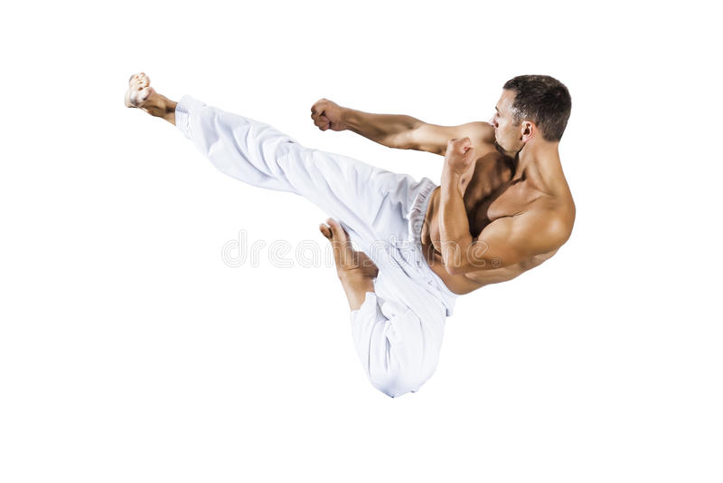 Maître d'arts martiaux du Taekwondo image libre de droits