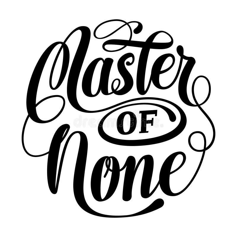 Maître d'aucun autour de marquer avec des lettres SVG illustration stock