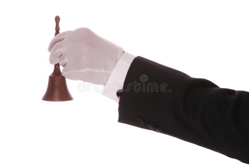 Maître d'hôtel avec Bell images stock