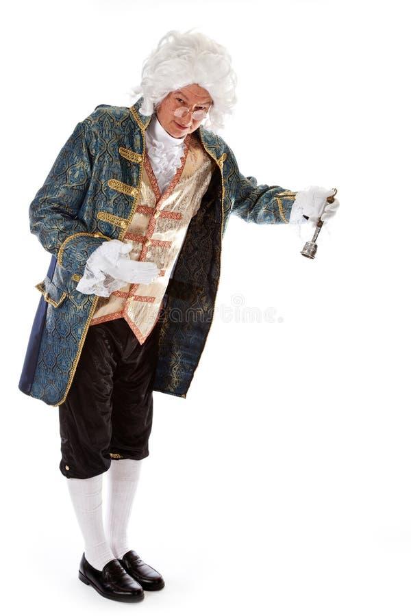 Maître d'hôtel avec une cloche photographie stock libre de droits
