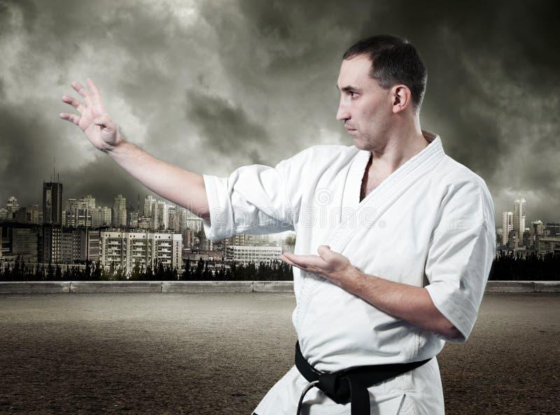 Download Maître De Karaté Dans Le Kimono Photo stock - Image du main, sain: 76076870