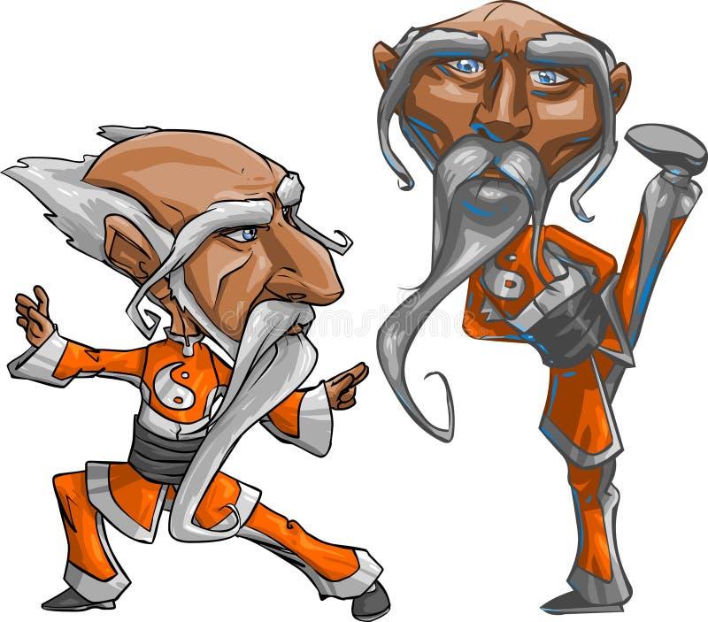 Maître de Kung Fu illustration libre de droits