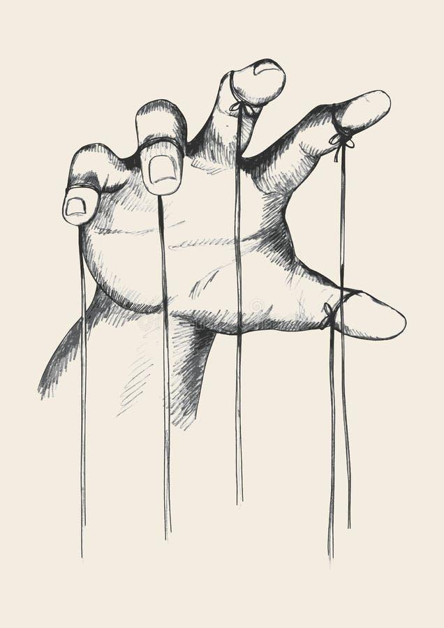 Maître de marionnette illustration de vecteur