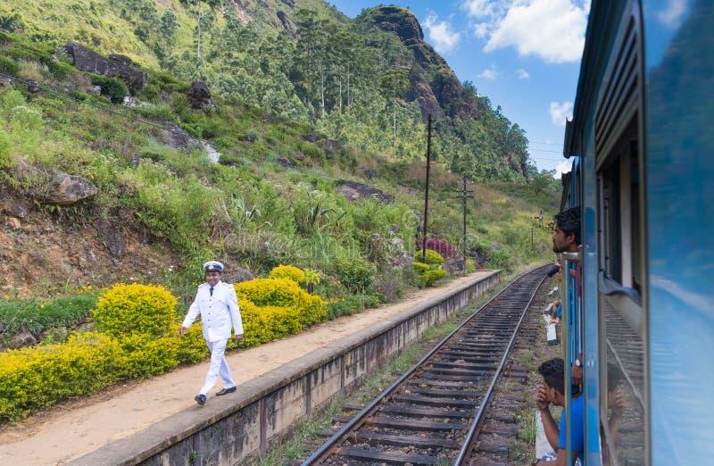Maître de station sri-lankais photo stock
