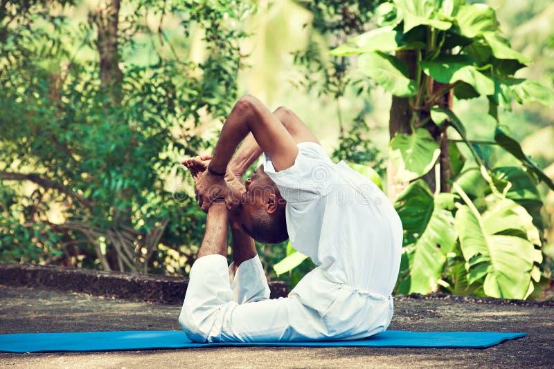 Maître de yoga dans l'Inde photographie stock libre de droits