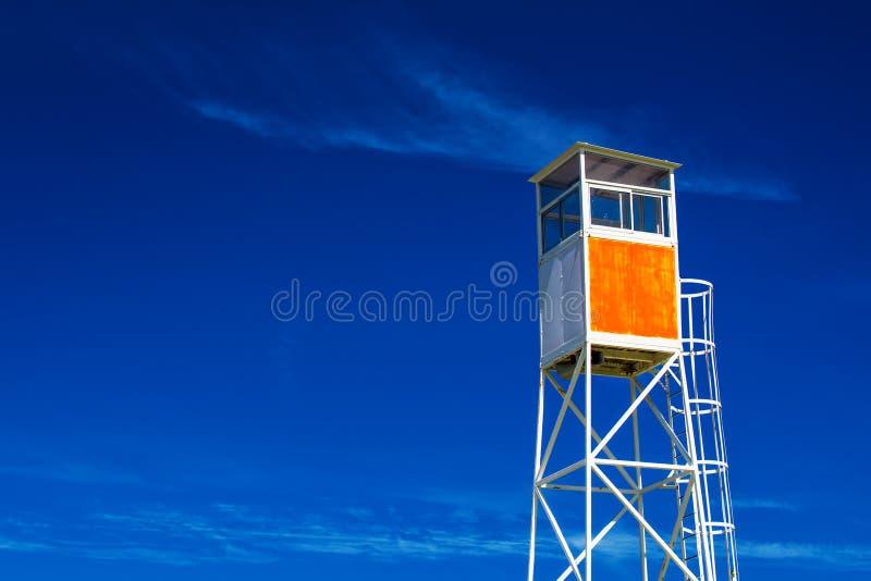 Maître nageur côtier Watchtower de bord de la mer photo stock