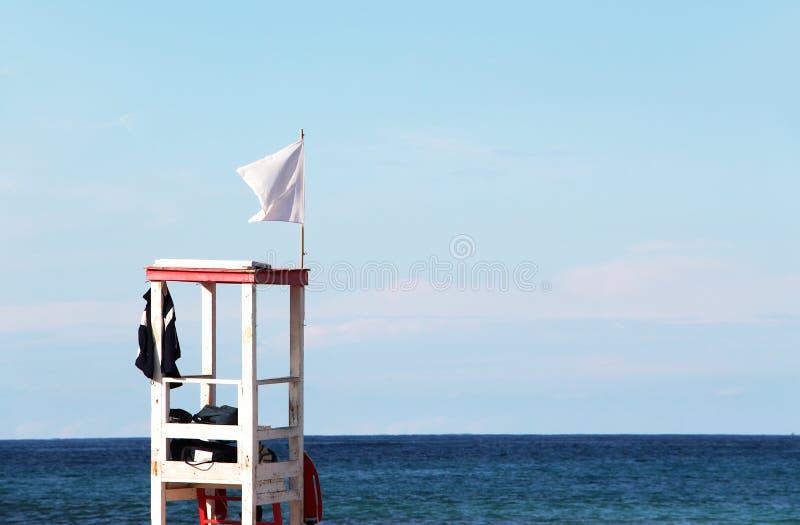 Maître nageur côtier Watchtower de bord de la mer photographie stock libre de droits