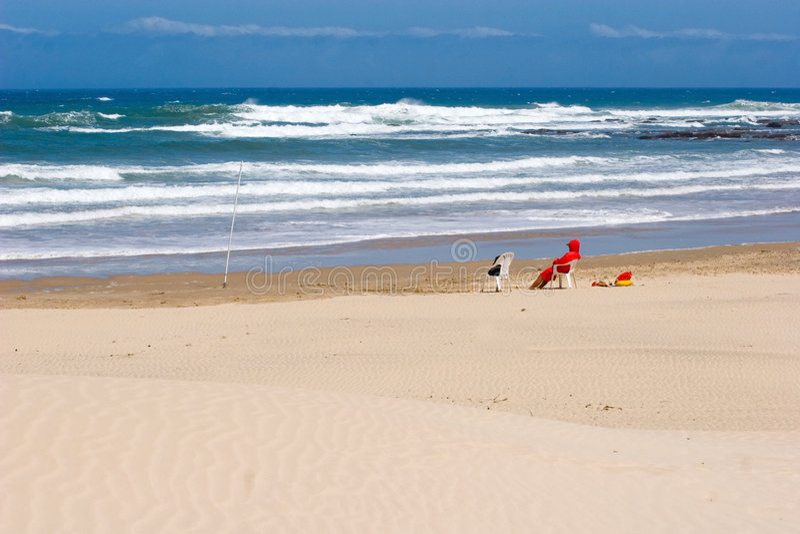 maître nageur vide de plage photographie stock libre de droits