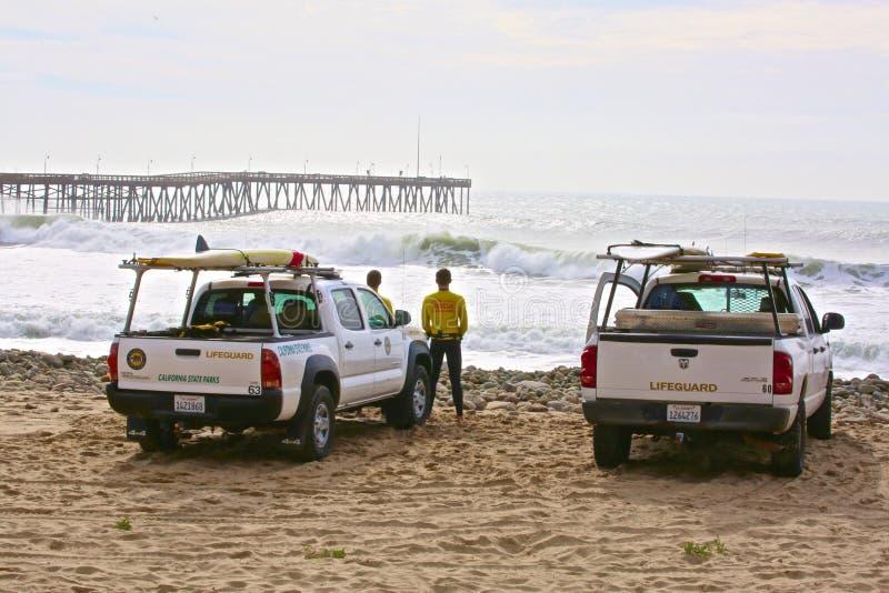 Maître nageurs Ventura California image libre de droits
