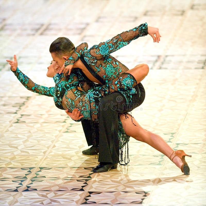 Maîtres internationaux de danse de concours photos libres de droits