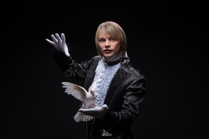 Maîtrise consommée de magicien photos libres de droits