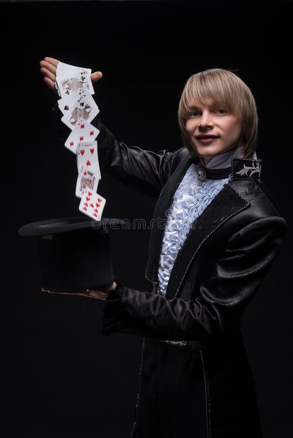 Maîtrise consommée de magicien photo libre de droits