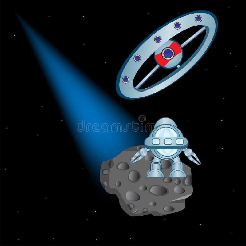 Maîtrise du cosmos illustration stock