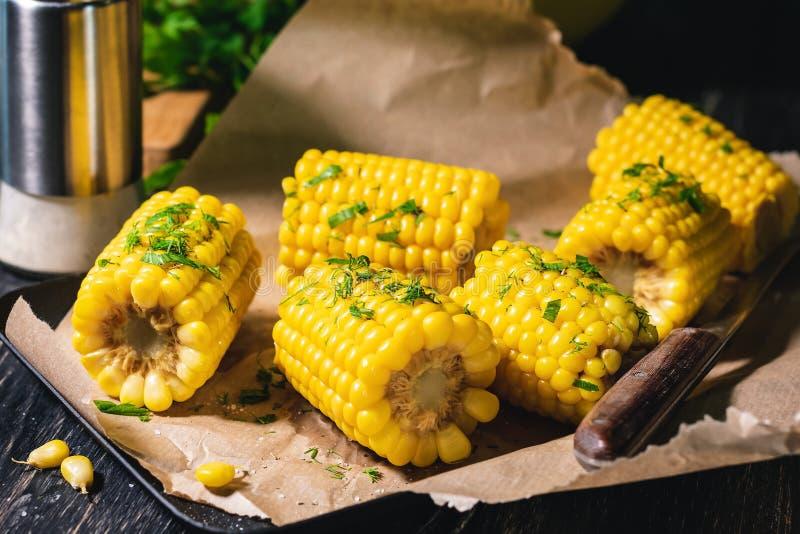 Maïs cuit photographie stock