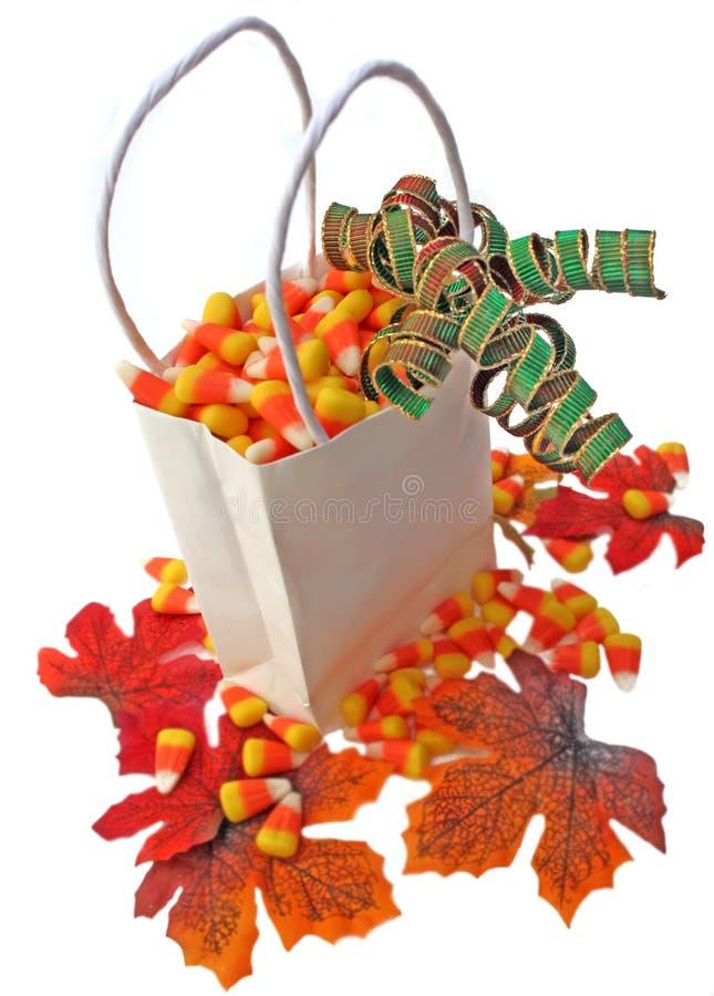 Maïs dans un sac. image libre de droits