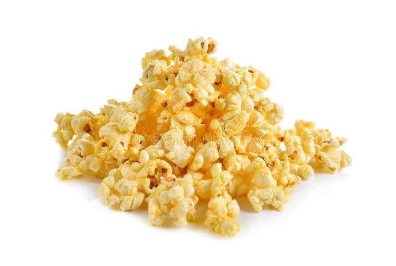 Maïs de bruit avec du beurre assaisonné sur le blanc image stock