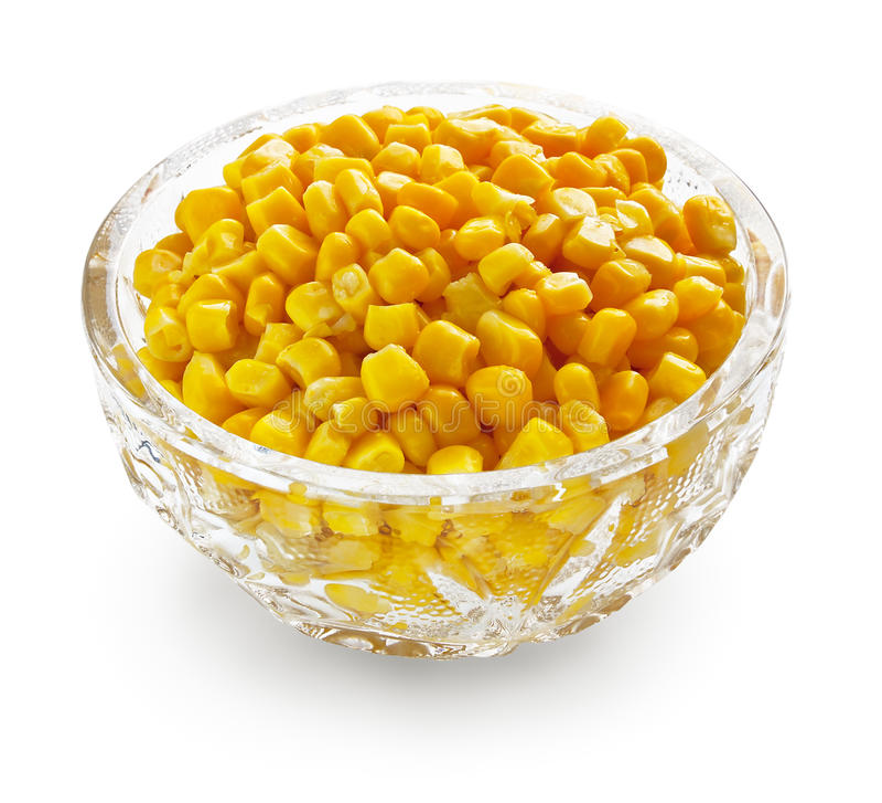 maïs de cristal de cuvette image libre de droits