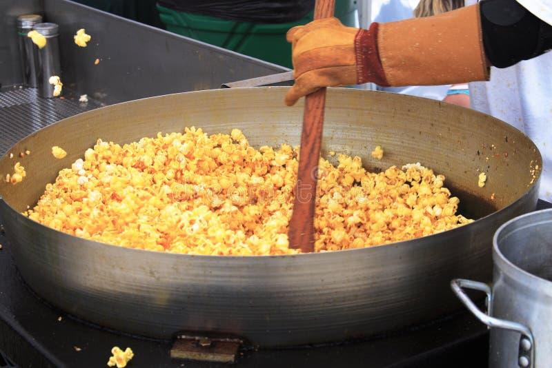 Maïs doux de bouilloire image stock