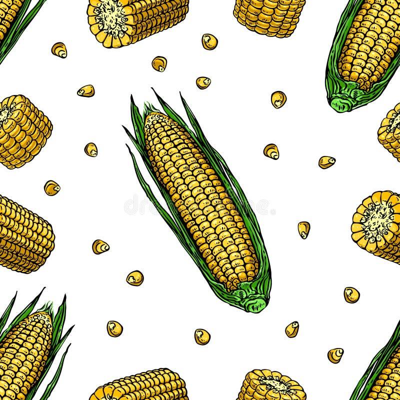 Maïs mûr sans couture illustration de vecteur