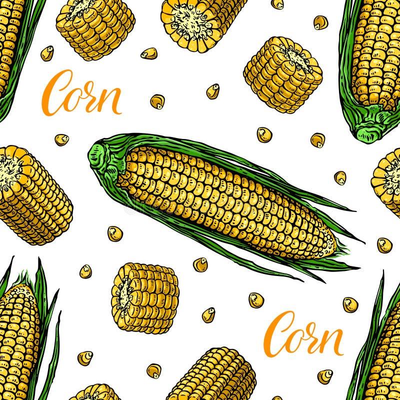 Maïs mûr sans couture illustration libre de droits
