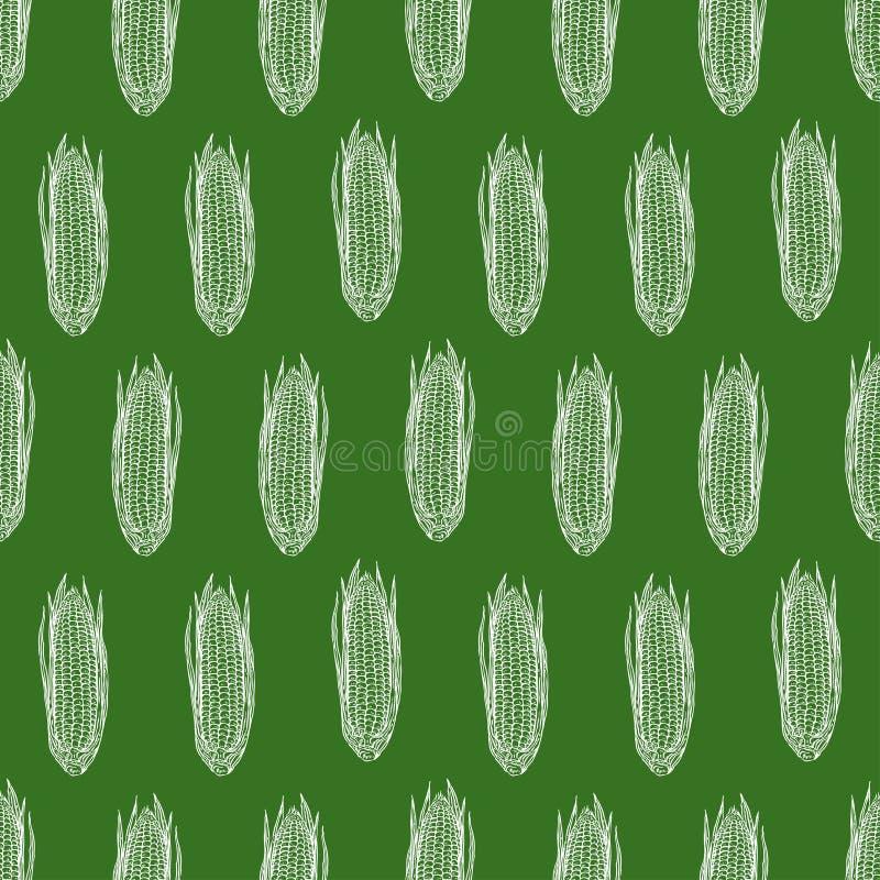 Maïs mûr sans couture illustration stock