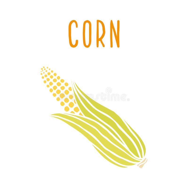 Maïs sur le blanc illustration libre de droits
