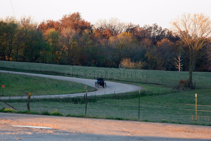 Mañana de Amish imagen de archivo libre de regalías