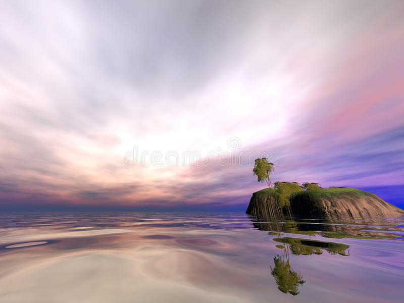 Mañana de la isla del coco imagen de archivo
