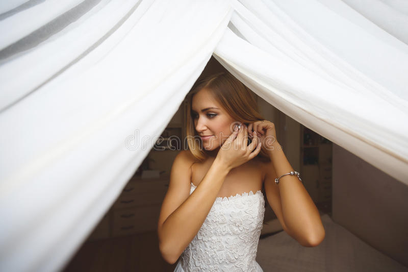 Mañana de la novia foto de archivo