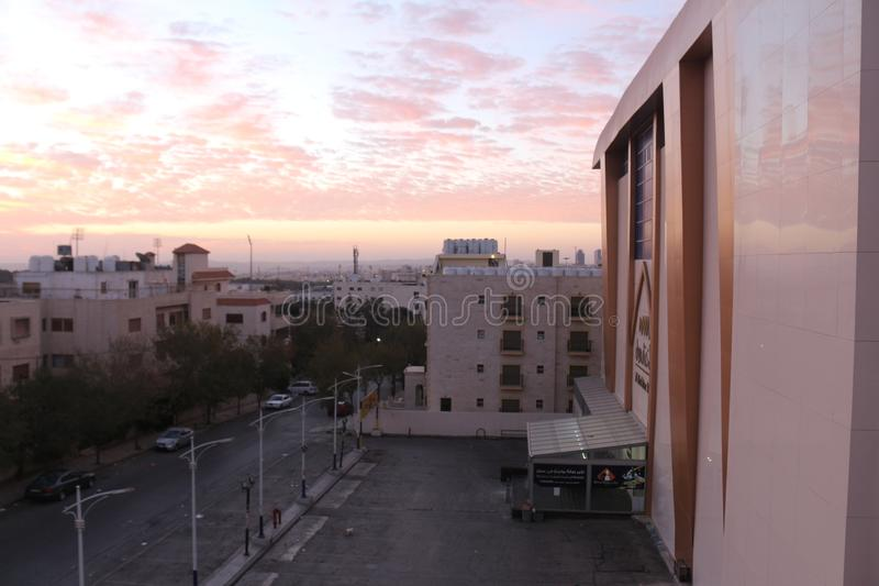 Mañana de la salida del sol del cielo fotos de archivo