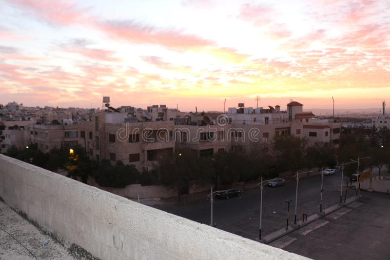 Mañana de la salida del sol del cielo foto de archivo libre de regalías