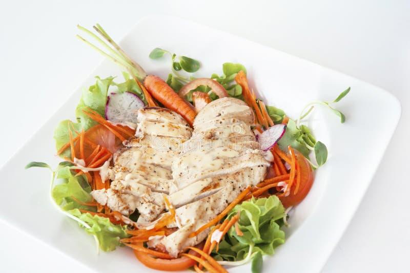 Mañana de la verdura de ensalada de pollo foto de archivo libre de regalías
