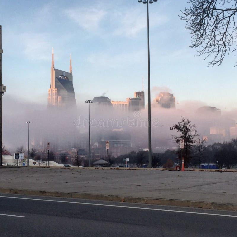 Mañana de niebla de Nashville imágenes de archivo libres de regalías