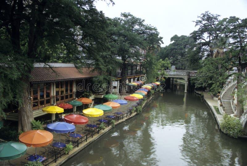 Mañana de San Antonio Riverwalk fotos de archivo