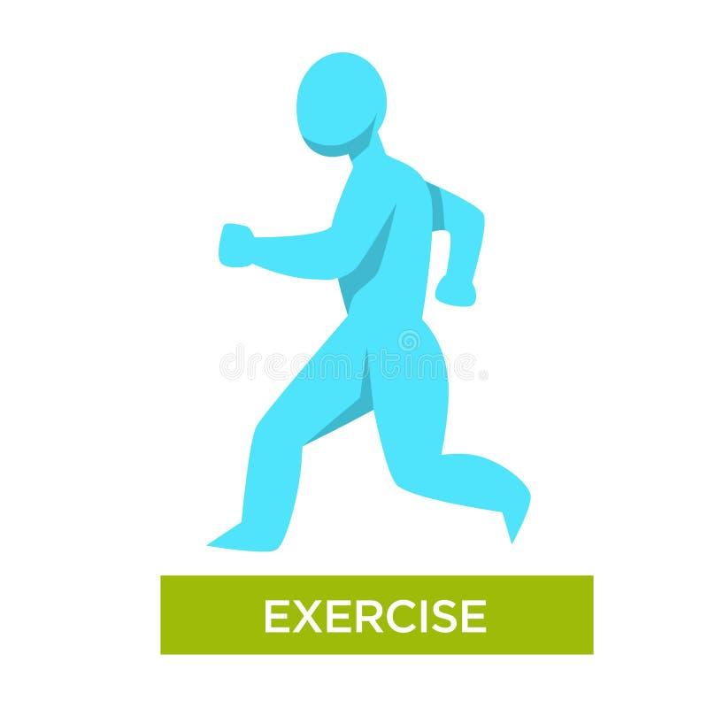 Mañana del ejercicio que activa la figura humana aislada ejemplo del vector libre illustration