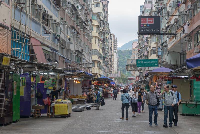Mañana del mercado callejero fotografía de archivo