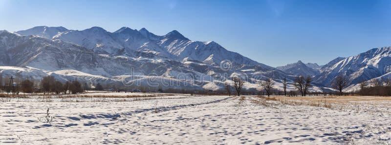 Mañana del panorama en las montañas fotografía de archivo