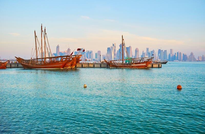 Mañana en Doha, Qatar fotografía de archivo libre de regalías