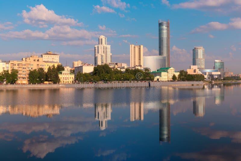 Mañana en Ekaterimburgo foto de archivo libre de regalías