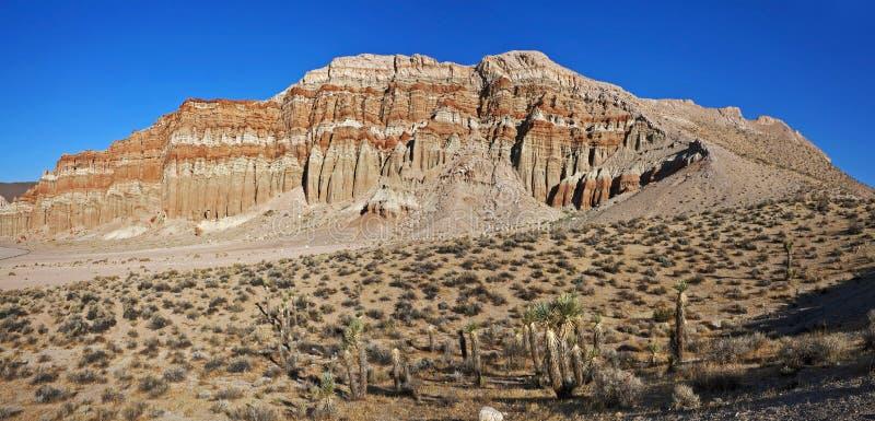 Mañana en el barranco rojo de la roca foto de archivo